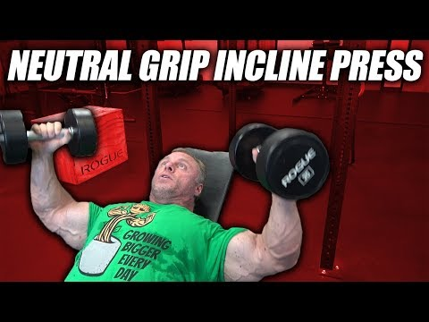 Exercise Index Neutral Grip Incline Dumbbell Press