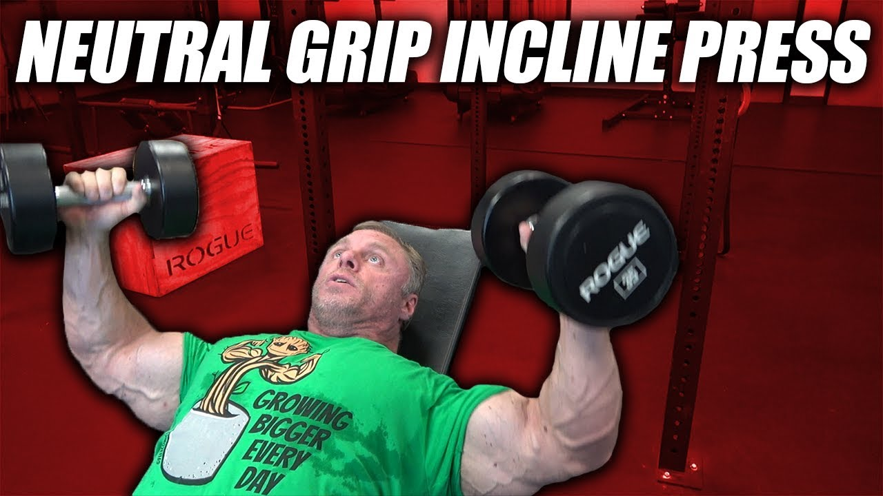 Exercise Index - Neutral Grip Incline Dumbbell Press
