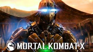 Mortal Kombat X - Triborg Cyrax Variation Gameplay Kombat Pack 2 @ (60fps) HD