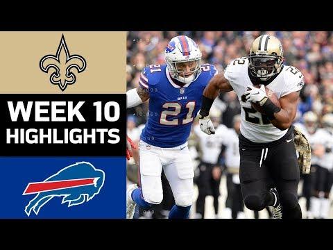 Saints vs. Bills | NFL Week 10 Game Highlights