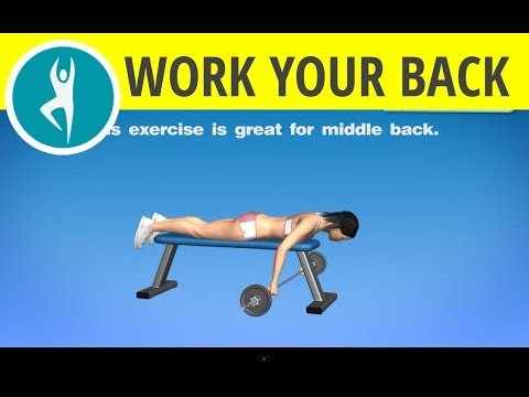 Back exercises with weights for women and men: lying cambered barbell row