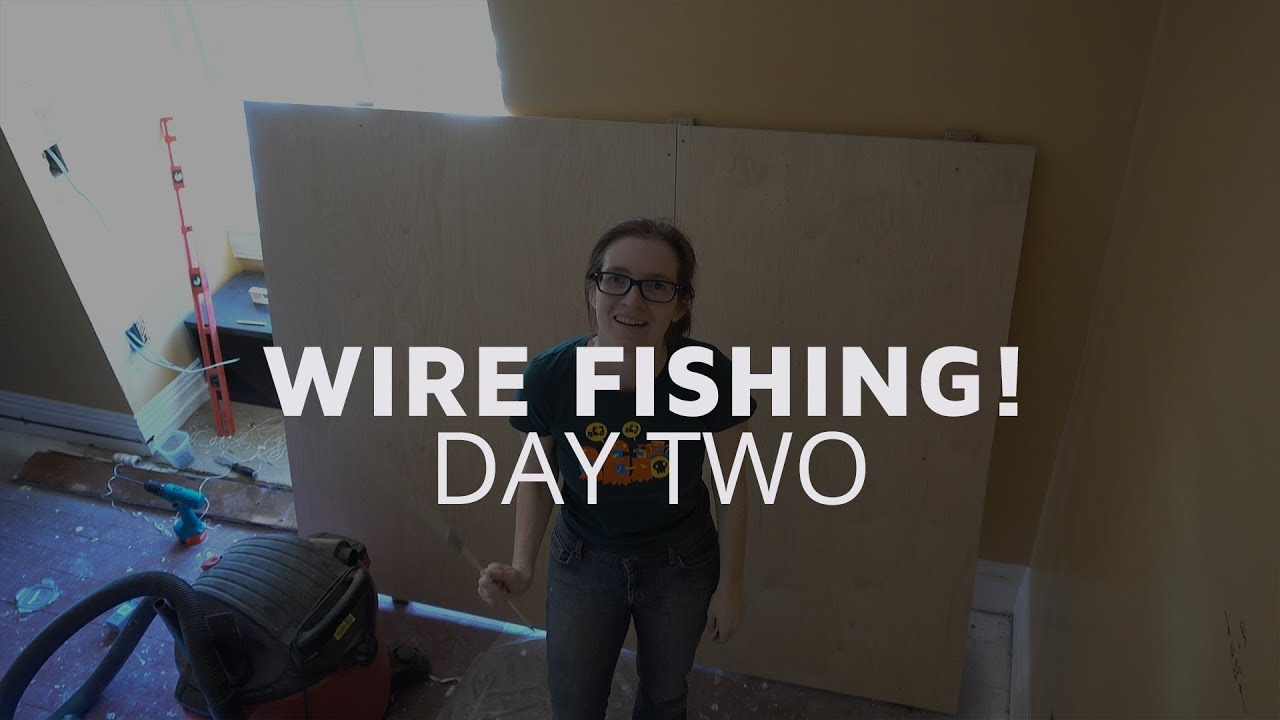 medium resolution of wire fishing through plaster walls day two
