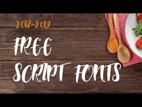 Fresh and beautiful free script fonts. Hand-lettered typefaces inspiration gallery