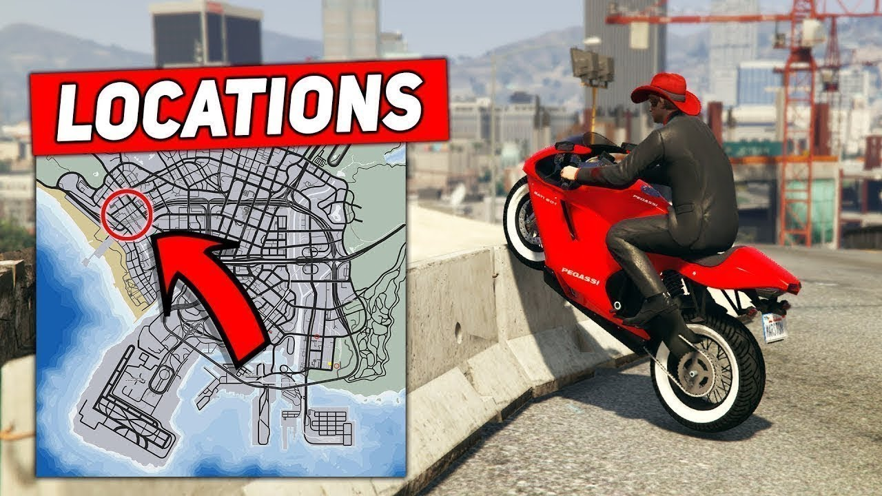Gta 5 Top 50 Motorcycle Stunt Spots Locations For Beginners
