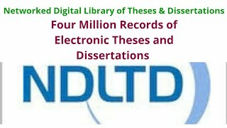 Online Dissertations And Theses Ndltd
