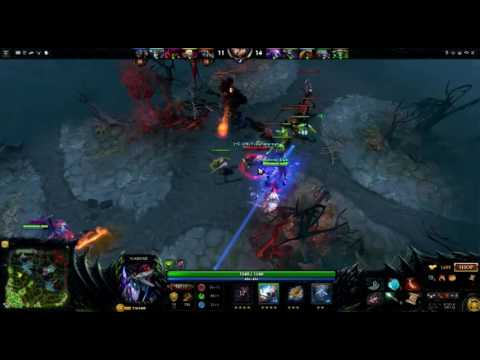 Dota 2 Alien Miracle 9000 MMR plays Sladar with Armlet Of Modiggian epic comeback