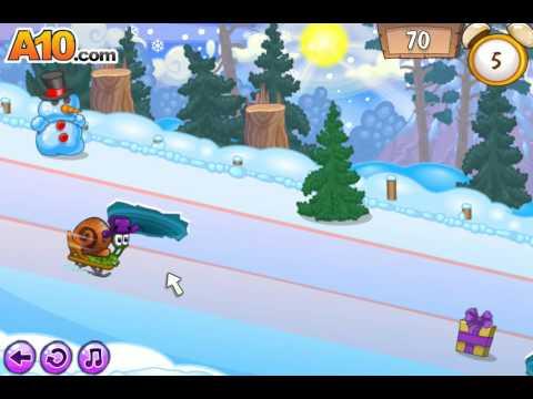 флеш игра Улитка Боб 6 Зимняя сказка Snail Bob 6 Winter Story 3 серия
