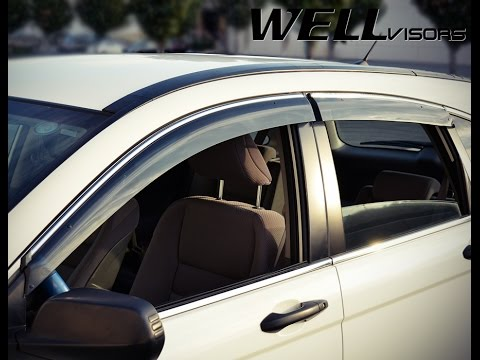 Wellvisors Side Window Deflectors Installation Video Honda Cr V 07 11 Youtube