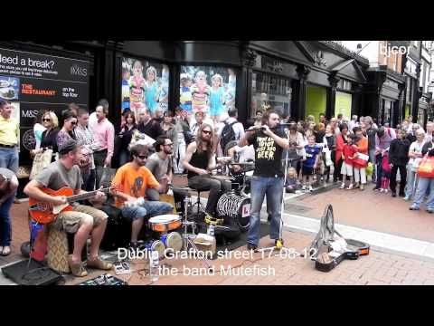 Dublin Grafton street 17-08-12 ....the band Mutefish....