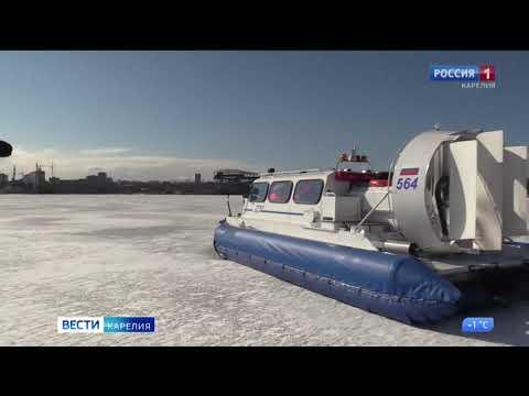 Трех человек сняли со льда Онежского озера в Петрозаводске