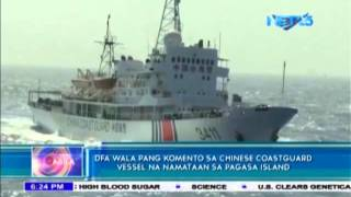 DFA verifies report of Chinese coast guard vessel in Pagasa Island
