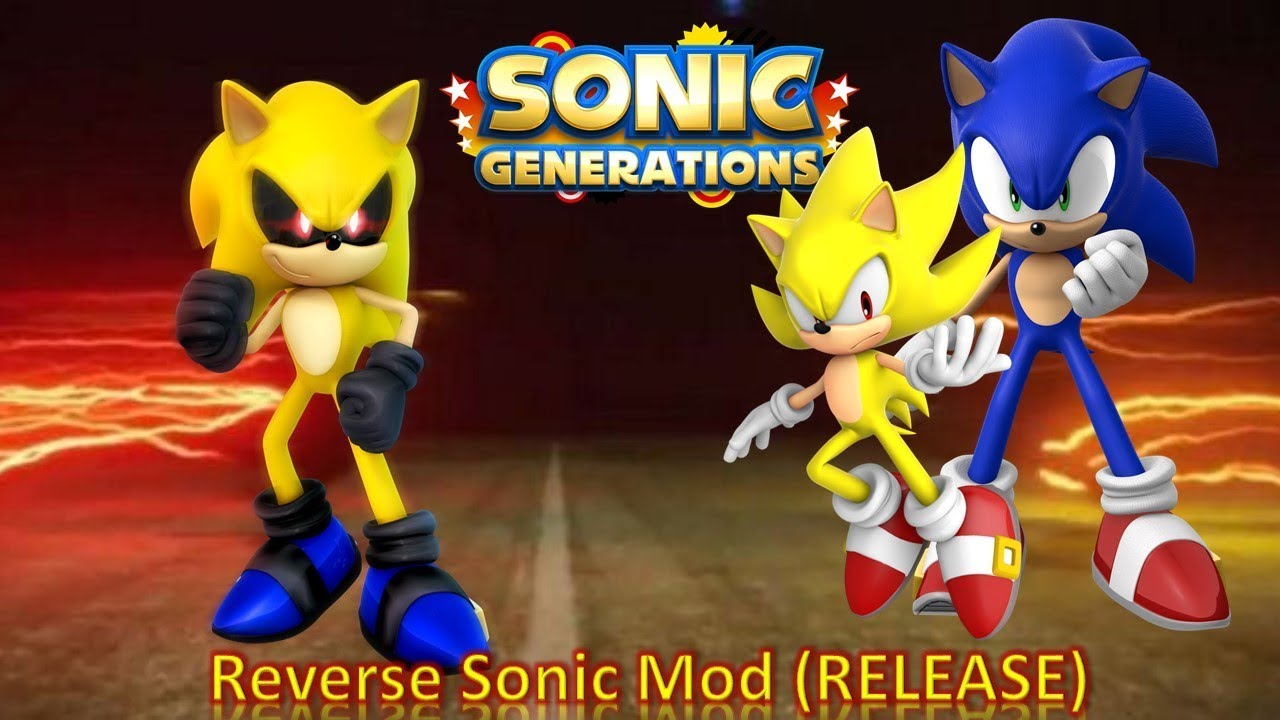 62fd9bfb9d11 Sonic Generations Mod Part 172  Reverse Sonic Mod (RELEASE) - YouTube