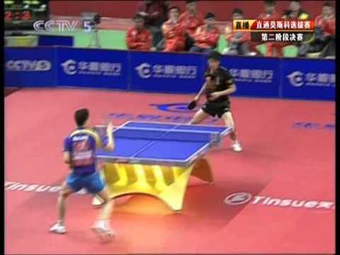 2010 CHN Trials for Moscow (Rnd2) MA Long Vs ZHANG Jike [FULL Match/Chinese/+Liu Guoliang]