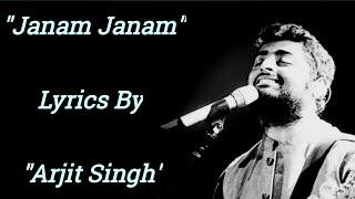 """Janam Janam"" Song With Lyrics (Hindi) - Dilwale   Arijit Singh , Antara Mitra   Pritum   SRK"