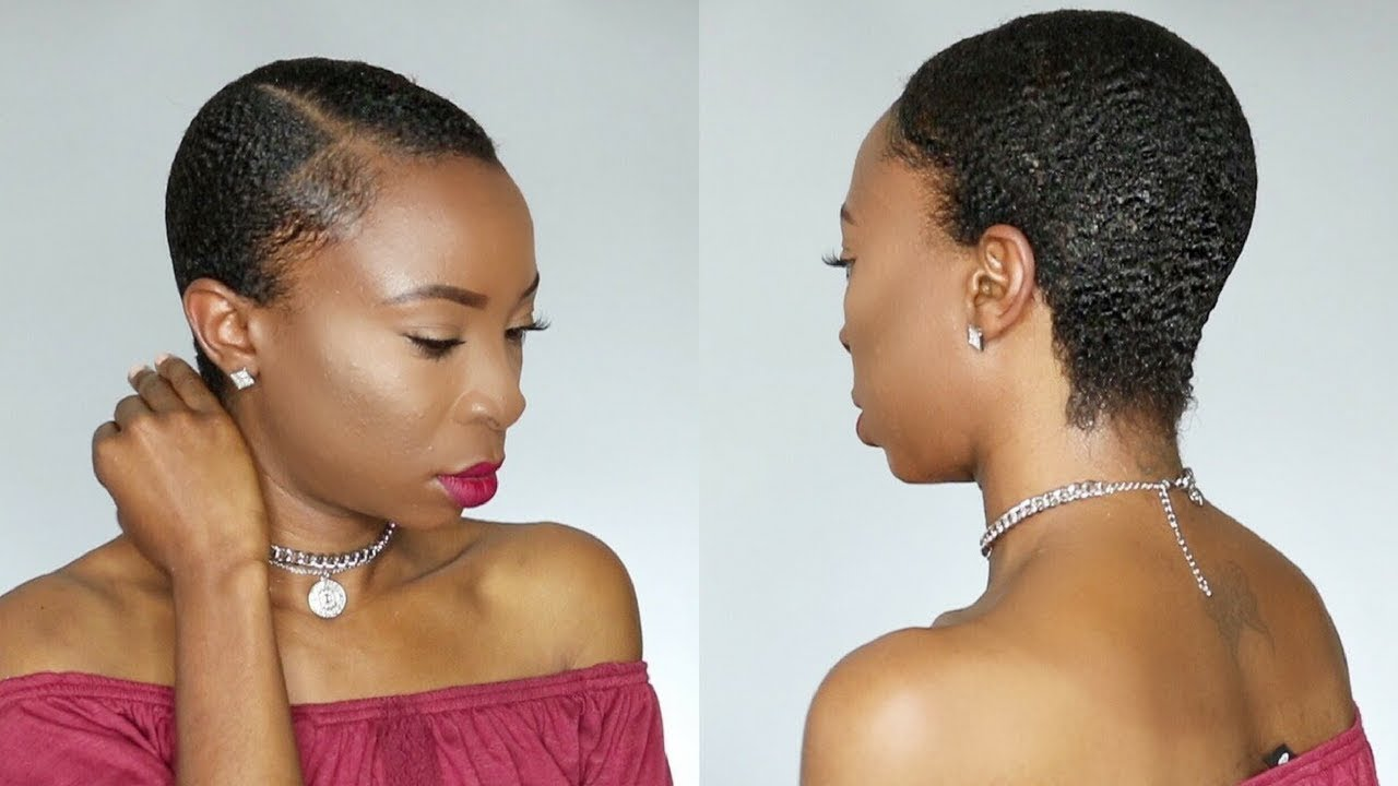 How To Sleek Back Short Natural Hair Twa South African Youtuber Youtube