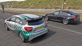 471HP Mercedes-AMG A45 RaceChip vs BMW M3 F80 with Akrapovic Exhaust
