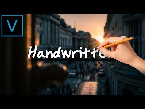 Vegas Pro 16: How To Create A Handwriting Effect - Tutorial #383