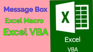 Excel VBA Macro | Message box in Excel by using visual basic editor | VBA Tutorial 2