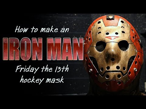 How to Make an Iron Man Jason Mask - Friday The 13th DIY Tutorial