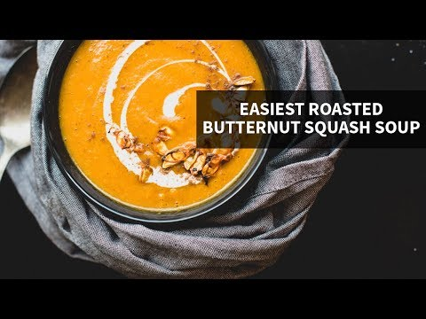 EASIEST ROASTED BUTTERNUT SQUASH SOUP | just 5 main ingredients