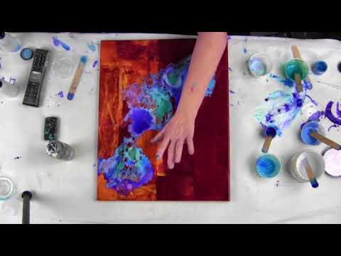 Part (3) Fluid Arte-Over resin pour Primary Elements by Leslie Ohnstad