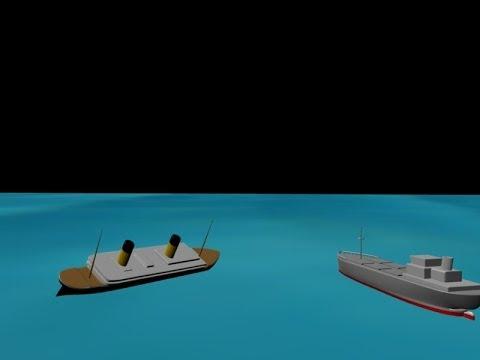 RMS Lusitania 3d Sinki...