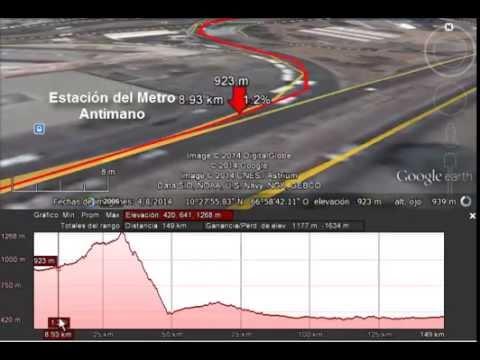 Ruta Al #ENCUValencia14 #CiclismoUrbano Caracas-Valencia Viajar #EnBici