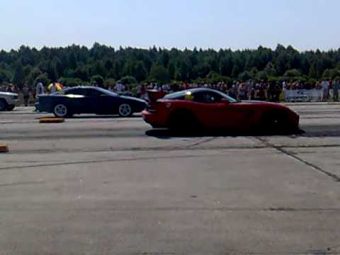 Chevy Camaro Z28 VS Hennessey Dodge Viper SRT-10 ACR 1/4mile drag race