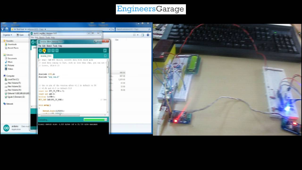 Getting Started With Can Interface Arduino By Engineers Garage Usb Mobile Charger Circuit Diagram Engineersgarage