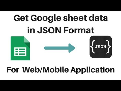 Get Google Sheet Data In JSON Format Using App Script