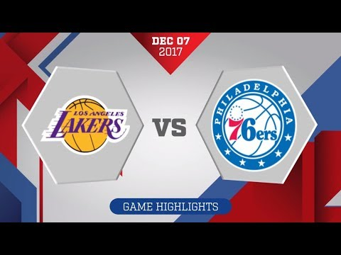 Los Angeles Lakers vs. Philadelphia 76ers - December 7, 2017