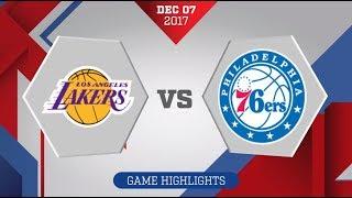 Los Angeles Lakers vs. Philadelphia 76ers - December 7, 2017