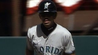 FLA@SF: Santiago hits first Marlins home run