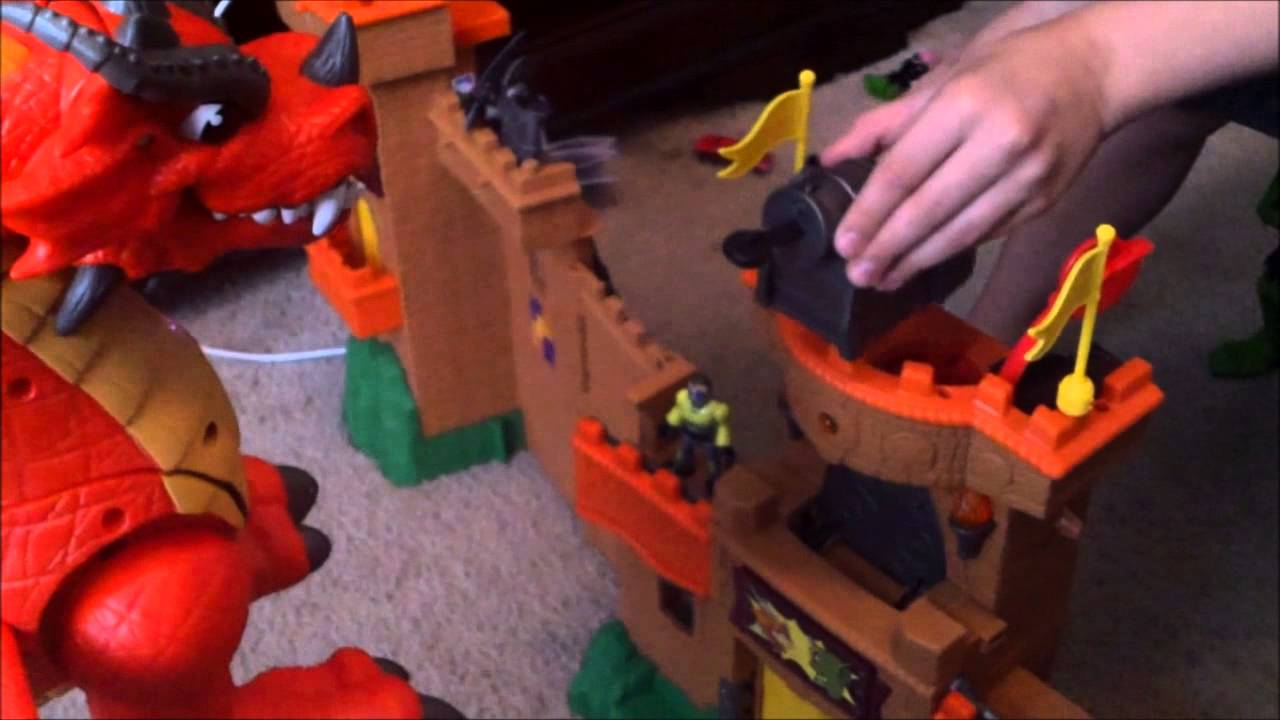 Toy Castles For Toddler Boys : Imaginext red dragon eagle castle toy review youtube