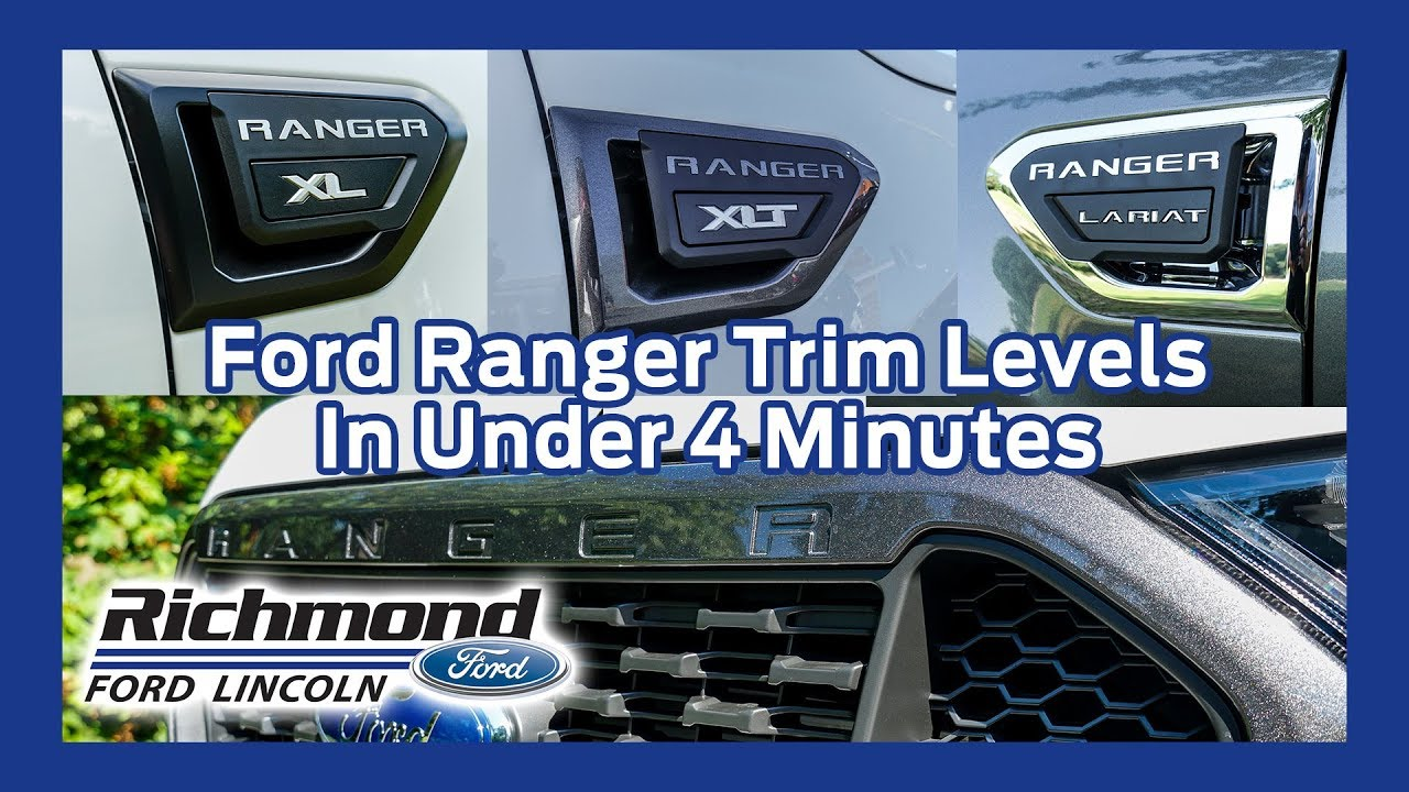 Ford Ranger Trim Levels Explained Youtube