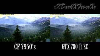crossfirex radeon hd 7950 s vs single gtx 780 ti sc edited