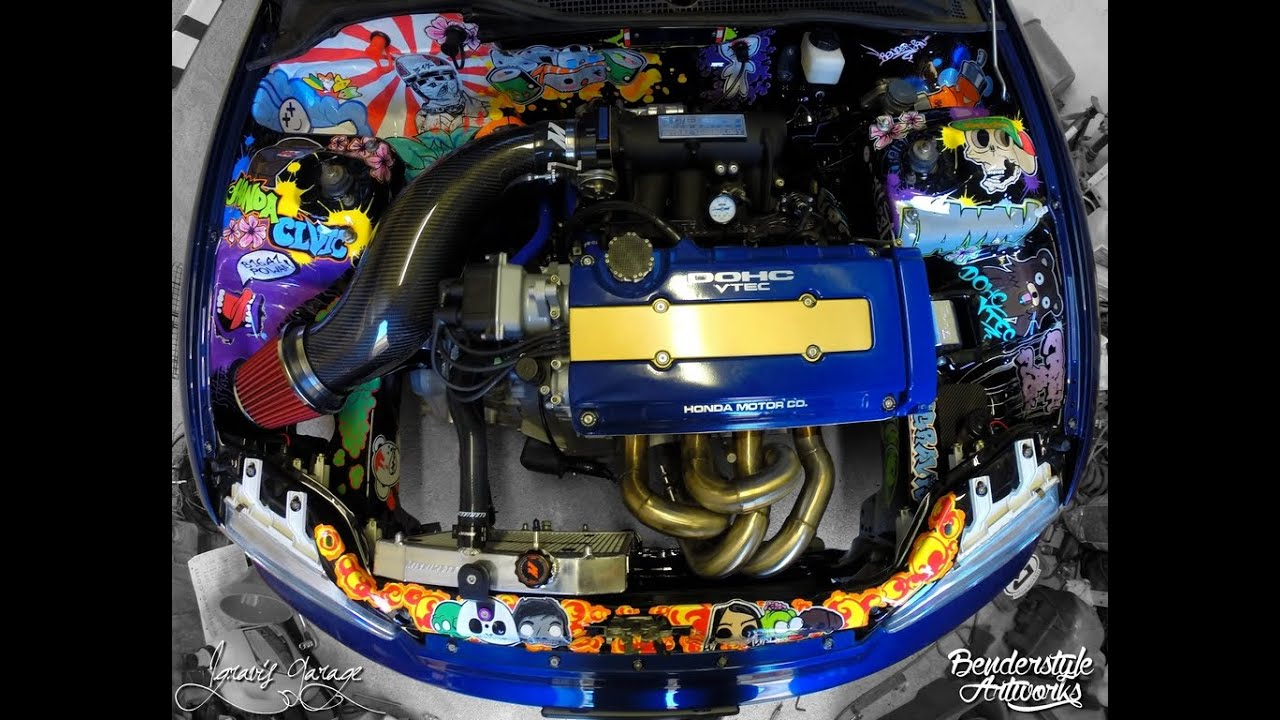 maxresdefault 本田思域 igravis's honda civic eg6 hatch wire tuck engine bay show car engineering waterloo ny at reclaimingppi.co