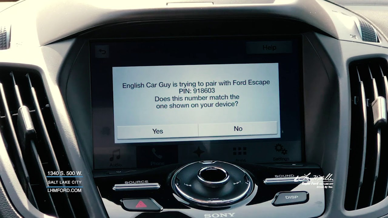 Pairing Your Phone with Ford Sync 3 - YouTube