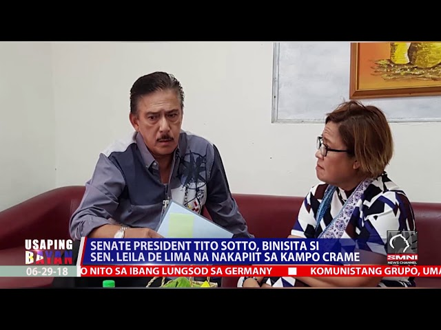 Senate president tito sotto, binisita si sen  Leila de lima na nakapiit sa kampo crame