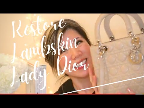 RESTORING CHRISTIAN DIOR LADY DIOR COLOR TRANSFER STAINS--MAGIC ERASER & TRINOVA LEATHER CARE!