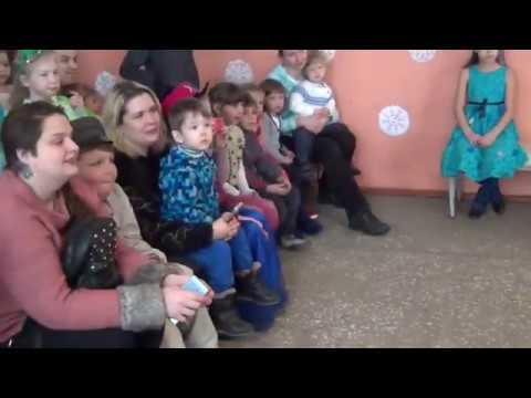 Праздник Нового года для детей деревни Окунево. 1 часть. Зима 2019-2020.