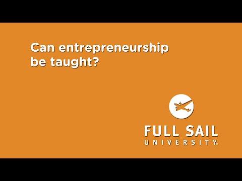 Can entrepreneurship be taught? | Ron Cook, Full Sail University
