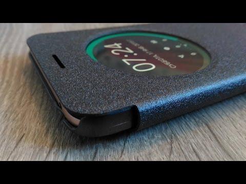 pretty nice 01f36 5f0db Чехол Nillkin с функцией view flip cover для zenfone max zc550kl