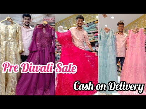 Indian Bridal Styling Gowns Rs.999  Cash On Delivery Designer Anarkali Ball Gown Crop Top Buy 1 Get1