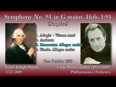 Haydn: Symphony No. 94 (Surprise), Giulini & The Phil (1956) ハイドン 交響曲第94番「驚愕」ジュリーニ