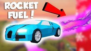 FLYING CARS WITH ROCKET FUEL IN NEW JAILBREAK UPDATE! (Roblox)