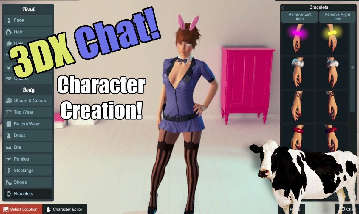 3dxchat character creation