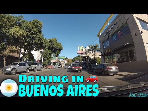 Driving in Buenos Aires (from Adrogué to Monte Grande)