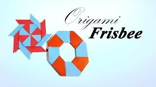 Origami Frisbee Transform Ninja Star ♥︎ How to Make a Paper Transforming Ninja Star kid - Paper Work