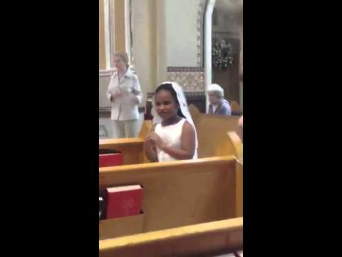 Sarah Receiving First Communion, Cathedral of St. Andrew, Little Rock, Ark.